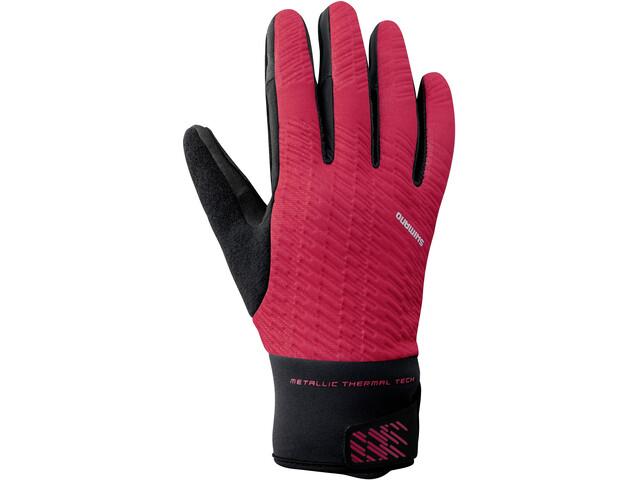 Shimano Windbreak Thermische Reflecterende Handschoenen Heren, red